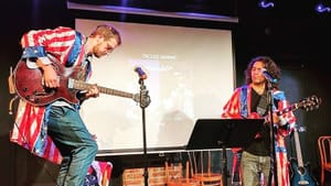 """Max Barth and Joe Messina: """"The fake band with real music."""" (Photo courtesy of Henry Scribbens.)"""
