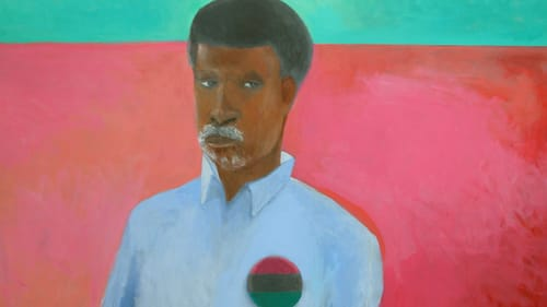 An intense emotional pause: James Brantley's 2020 'Colors'; acrylic on canvas. (Image courtesy of the artist.)