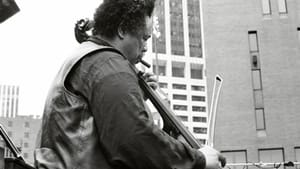 The great Charles Mingus plays his French bass with a bow on July 4, 1976, in New York City. (Photo via Tom Marcello, via Creative Commons/Flickr.)