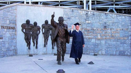 """Penn State's iconic  —  and since removed  —  """"JoePa"""" statue. (Photo by dfirecop via Creative Commons/Flickr)"""