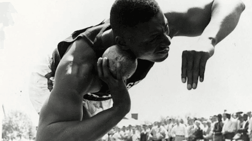 Charles L. Blockson at the 1955 Penn Relays. (Photo by John W. Mosley)