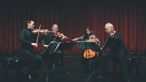 The quartet in action. (Photo by Steve J. Sherman)