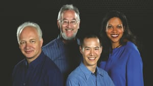 The Juilliard Quartet with their newest member. (Photo by Steve J. Sherman.)