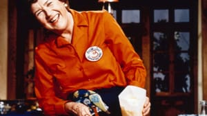 """""""If I can do it, you can do it, and here's how to do it."""" Today's master chefs honor Julia Child on 'Dishing with Julia.' (Image courtesy of PBS.)"""