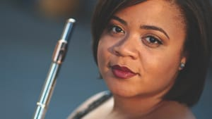 Rising stars: Julietta Curenton and her instrument. (Photo courtesy of PCMS)