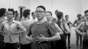 How long until we can breathe in the same space? Kun-Yang Lin in class before the pandemic. (Photo by Ellen Rosenberg Photography.)