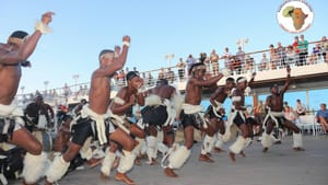 It's martial, but also art: the Kangaroo Zulu Dancers perform in Durban last February. (Image via Facebook.)