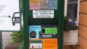 The offending kiosk and its many, many instructions. (Photo by Rod Bartchy.)