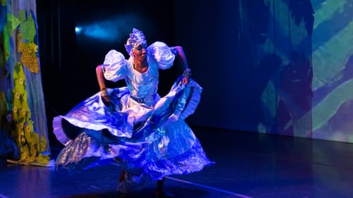 Like trance-inducing waters: Ama Schley as Yemaya, goddess of rivers and oceans. (Photo by Jaci Downs Photography.)