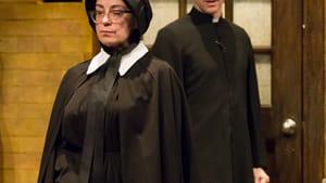 Intuitive suspicions: Mary Martello and Ben Dibble (Photo by Mark Garvin)