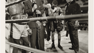 Fink shows the thrill of victory and the agony of defeat at Philly's Blue Horizon in 1991. (Photo is a promised gift of the Tony Podesta Collection, Washington, DC, © Larry Fink.)