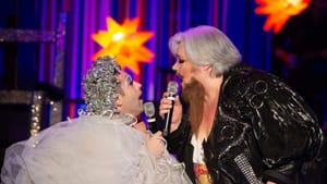 The best of drag and opera: John Jarboe and Stephanie Blythe (as Blythely Oratonio) at Late Night Snacks. (Photo by Johanna Austin; austinart.org.)