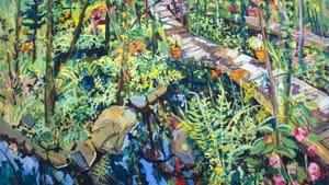 """Inside Summer's Garden,"" John Laub. (Courtesy Woodmere Art Museum)"