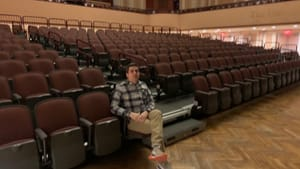 Ready to continue edgy, innovative film programming: Lightbox director Jesse Pires in the theater's new Broad Street home. (Photo by Stephen Silver.)