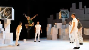 Can this story become a ballet? Roderick Phifer (leaping) and other ensemble members of 'Little Prince.' (Photo by Vikki Sloviter.)