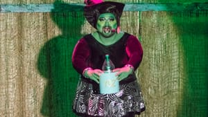 What if the queer subtext were just text? Eric Jaffe as Smelphaba in 'Lizard of Oz.' (Photo by Joe Mac.)