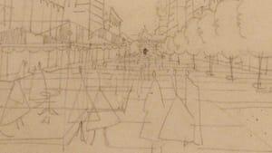 Penn Center Studies, Philadelphia (1951-58): Louis Kahn envisioned pedestrian zones in his work for Philadelphia's City Planning Commission. (Photo by Pamela Forsythe)