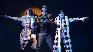 A metric ton of whimsy: The Prince (Jonathan Johnson), Farfarello (Ben Wager), and Truffaldino (Barry Banks) in 'Oranges.' (Photo by Kelly & Massa for Opera Philadelphia.)