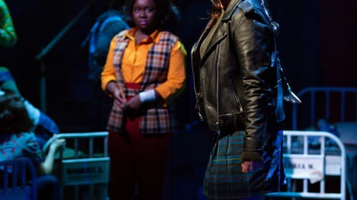 Chemistry to spare: Amina Faye and Kelly McIntyre in 'Love in Hate Nation.' (Photo by T. Charles Erickson.)