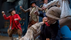Soldiers brawl in a tableau at the Museum of the American Revolution. (Photo courtesy of the Museum of the American Revolution.)