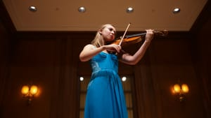 Violinist Claire Bourg will perform her recital on April 30. (Photo by Pete Checchia.)