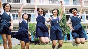 Whee! Wait — what? (photo of Malaysian schoolgirls by Cavernosa via Creative Commons/Wikimedia)