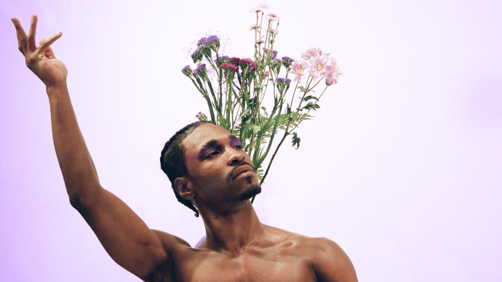 """Malik Berry performs in Kemar Jewel's 'SOFT: A Love Letter to Black Queer Men."""" (Photo by Venancio Cortez.)"""