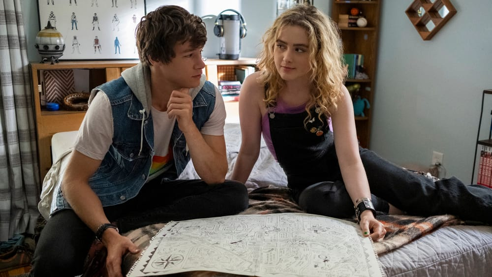 What could we change if we applied our intention to it? Kyle Allen and Kathryn Newton in 'The Map of Tiny Perfect Things.' (Image courtesy of Amazon Studios.)