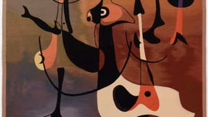 Artistic legitimacy to the decorative arts: Joan Miró's 'Rhythmic Figures (Personnages rythmiques), or Woman and Birds.' (Image courtesy of the Barnes Foundation. For additional credit info, see below.)