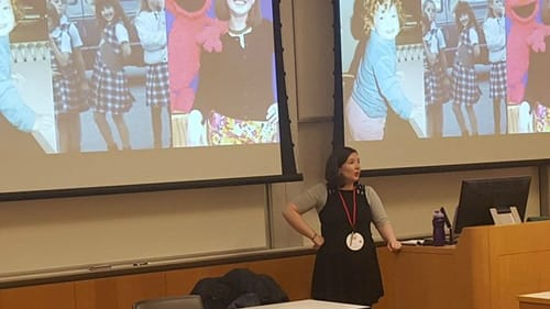 Marta Rusek offered her own session, 'Unlocking Quirks as Superpowers,' at BarCamp 2018. (Photo courtesy of Marta Rusek.)