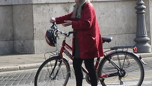 Mary Beard being filmed in Rome. (Photo by Tristan Ferne via Creative Commons/Flickr)