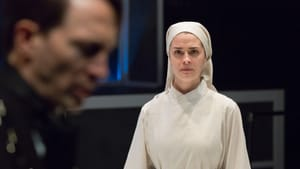 What is happening here? Ben Dibble and Claire Inie-Richards in the Lantern's 'Measure for Measure.' (Photo by Mark Garvin.)