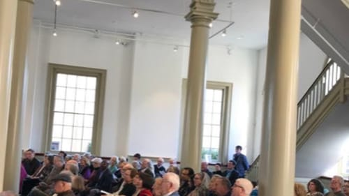 The Old Town Hall is an excellent venue for chamber music. (Photo by Gail Obenreder.)