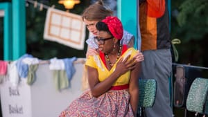 Of course, the Merry Wives are pals: Amy Frear and Brett Ashley Robinson. (Photo by Alessandra Nicole.)