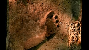 An Ur footprint preserved in mud offers elemental evidence of those who once walked their land. (Photo courtesy of the Penn Museum.)
