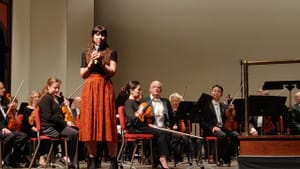 She wrote music in the shape of the solar system: composer Missy Mazzoli with the Delaware Symphony Orchestra. (Photo by Martín Martínez.)