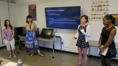 A team of women and nonbinary people developed the Moore College's newest game. (Photo courtesy of Mellany Armstrong.)