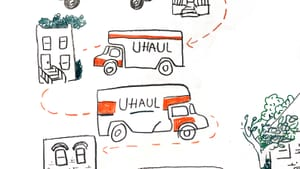 Never again… without a little help. (Illustration by Hannah Kaplan, for 'Broad Street Review'.)