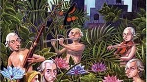 "Harrumph: Malcolm McDowell, Bernadette Peters, and Gael García Bernal in ""Mozart in the Jungle."""