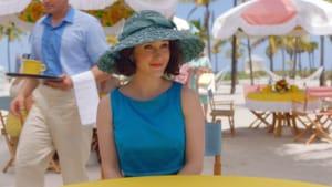 The winningest Jewish girl ever: Rachel Brosnahan as Midge Maisel. (Image courtesy of Amazon Studios.)