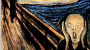 'From my dreams, I would wake screaming.' (Above: 'The Scream,' by Edward Munch.)