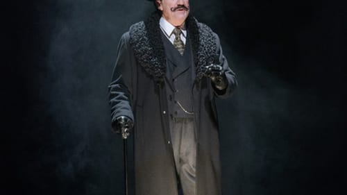 The truth-seeker's loneliness: Lee E. Ernst as Hercule Poirot in REP's 'Murder on the Orient Express.' (Photo by Evan Krape.)