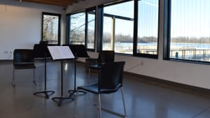 The view at the Discovery Center makes for an extraordinary concert venue. (Photo by Margaret Darby.)
