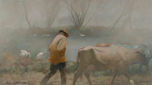 A coveted 'Saturday Evening Post' commission: 1903's 'Bucking Bronco.' (Image courtesy of the Brandywine River Museum.)