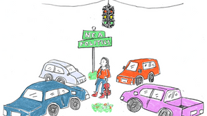 The arts and artists: Stuck in the middle. (Illustration for BSR by Hannah Kaplan)