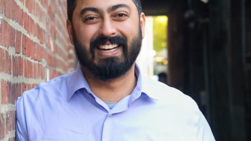BSR executive director Neil Bardhan is ready to work. (Image courtesy of Neil Bardhan.)