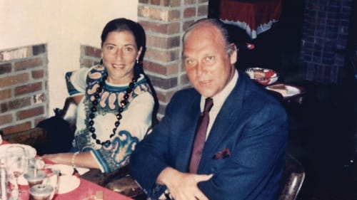 It's not sacrifice; it's family: Ginsburg and her husband Marty in 1972. (Image courtesy of the Collection of the Supreme Court of the United States.)