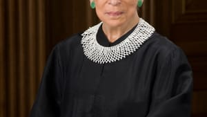 Asking no favors: US Supreme Court Justice Ruth Joan Bader Ginsburg in her official portrait. (Image courtesy of WDC Photos/Alamy Stock Photo.)