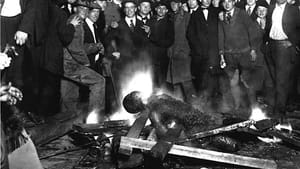 The charred corpse of Will Brown after being killed, mutilated, and burned in a 1919 Omaha lynching.