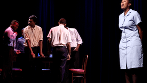 The cast of 'Our Side' stages the stories of their city. (Photo courtesy of Media Mobilizing Project.)
